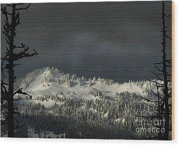 Winter In North Cascades Wood Print
