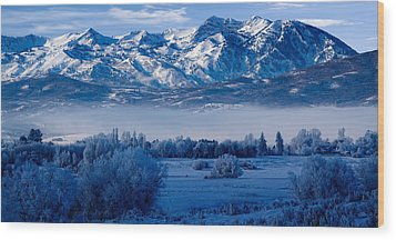Winter In Ogden Valley In The Wasatch Mountains Of Northern Utah Wood Print