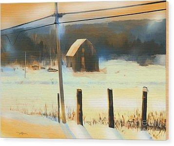 Winter In Powassan Ont. Wood Print by Bob Salo