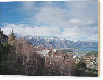 Winter In Queenstown Wood Print