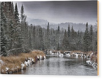Wood Print featuring the photograph Winter In The Adirondack Mountains - New York by Brendan Reals