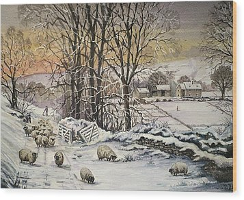 Winter In The Ribble Valley Wood Print by Andrew Read