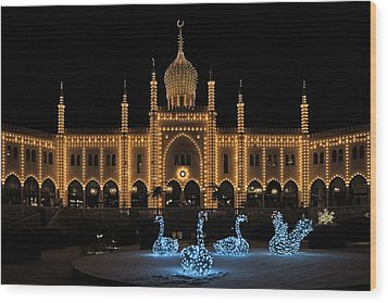 Winter In Tivoli Gardens Wood Print