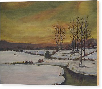 Winter In Upstate New York Wood Print