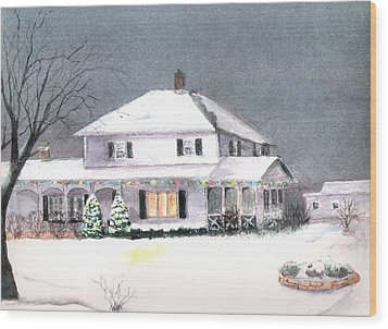Winter In Wisconsin Wood Print