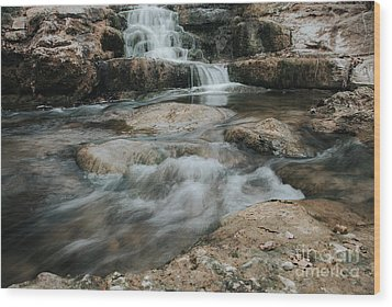 Wood Print featuring the photograph Winter Inthe Falls by Iris Greenwell