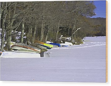 Winter Is Here Wood Print by Gerald Mitchell