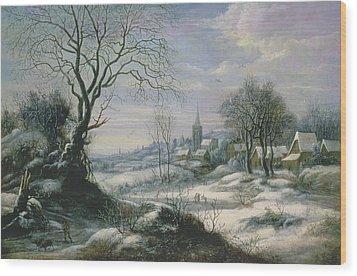 Winter Landscape Wood Print by Daniel van Heil