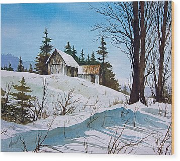 Winter Landscape Wood Print by James Williamson