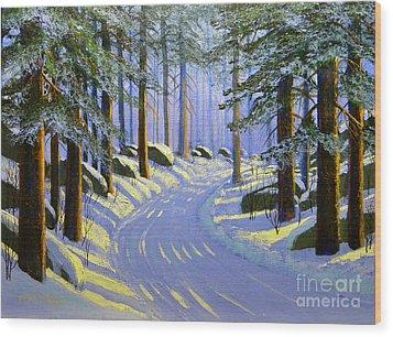Winter Landscape Study 1 Wood Print by Frank Wilson