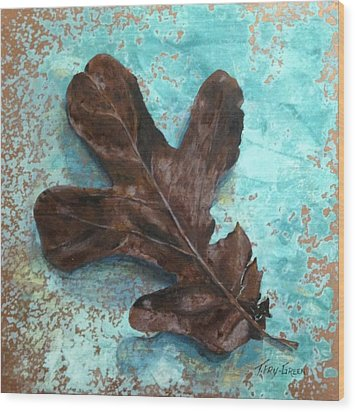 Winter Leaf Wood Print