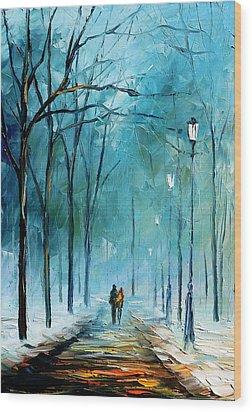 Winter Wood Print by Leonid Afremov