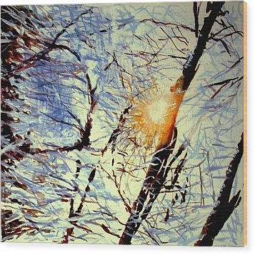 Wood Print featuring the painting Winter Light by Allison Ashton