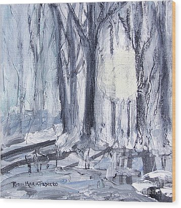 Wood Print featuring the painting Winter Light by Robin Maria Pedrero