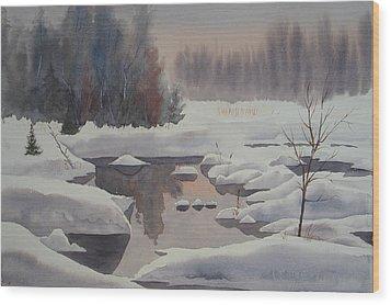 Winter Magic Wood Print by Debbie Homewood