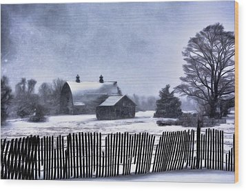 Winter Wood Print by Mark Fuller
