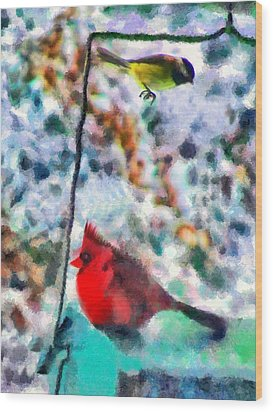 Winter Meals Wood Print by Marilyn Sholin