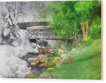 Wood Print featuring the digital art Winter Melt To Spring by Francesa Miller