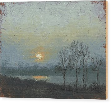 Winter Mist Wood Print by Timothy Jones