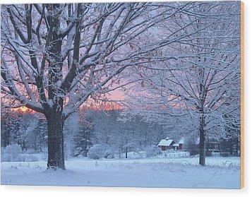 Winter Morning Wood Print by John Burk