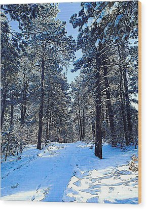 Wood Print featuring the digital art Winter Morning by Walter Chamberlain