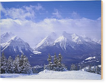 Winter Mountains Wood Print by Elena Elisseeva