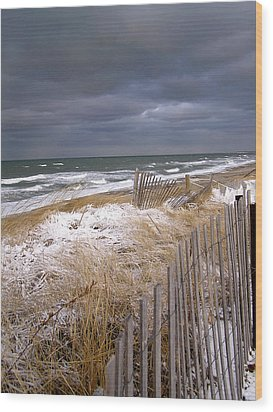 Winter On Cape Cod Wood Print by Charles Harden