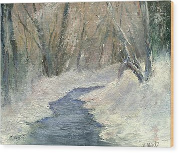 Wood Print featuring the painting Winter On Stormcreek by Gail Kirtz