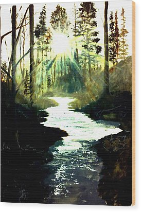 Winter Over Almond Creek Wood Print by Travis  Ragan