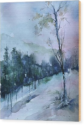 Winter Paradise Wood Print by Robin Miller-Bookhout