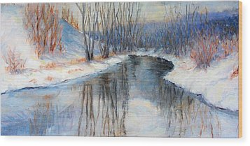 Winter Reflection Wood Print by Ruth Mabee