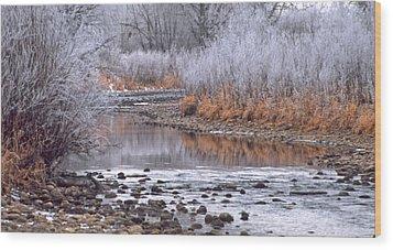 Winter River Wood Print by Bruce Gilbert