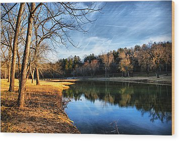 Wood Print featuring the photograph Winter River by Rick Friedle