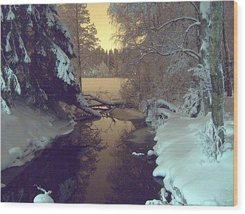 Wood Print featuring the photograph Winter River by Sami Tiainen