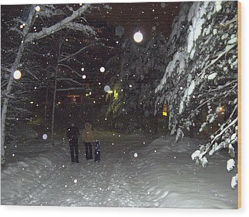 Wood Print featuring the photograph Winter Scene 7 by Sami Tiainen