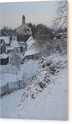 Wood Print featuring the photograph Winter Scene In North Wales by Harry Robertson