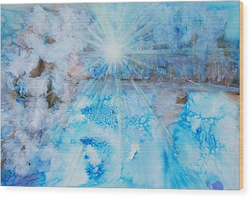 Winter Scene Wood Print by Tara Thelen
