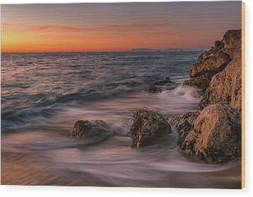 Winter Sea Wood Print