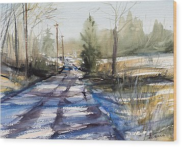 Winter Shadows  Wood Print by Judith Levins