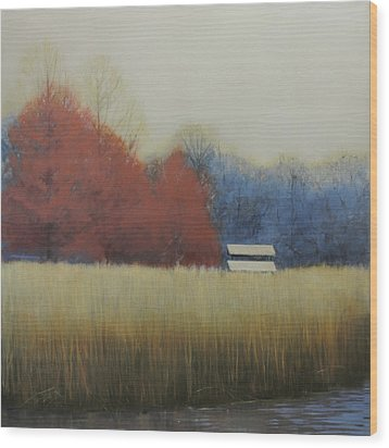 Wood Print featuring the painting Winter Shed by Cap Pannell