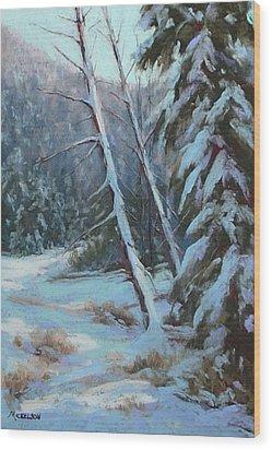 Winter Silence Wood Print by Debra Mickelson