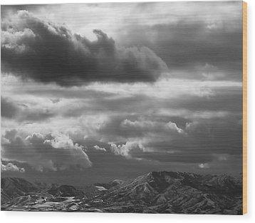 Winter Sky Wood Print by Rona Black