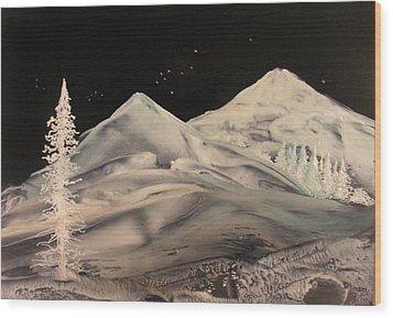 Winter Slumber Wood Print by John Vandebrooke