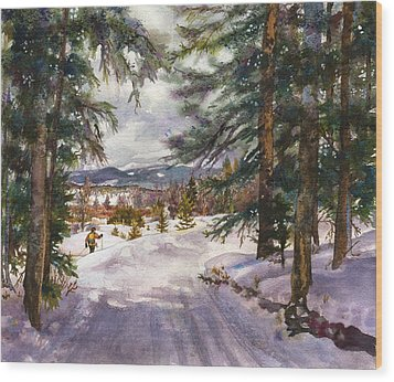 Winter Solace Wood Print by Anne Gifford