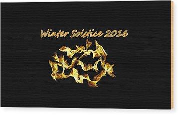 Winter Solstice Flame Wood Print by Aliceann Carlton