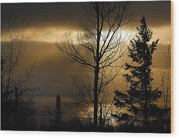 Winter Sunrise 1 Wood Print by Sebastian Musial