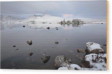 Wood Print featuring the photograph Winter Sunrise Glencoe by Grant Glendinning
