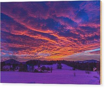 Winter Sunrise Wood Print by Tim Kirchoff