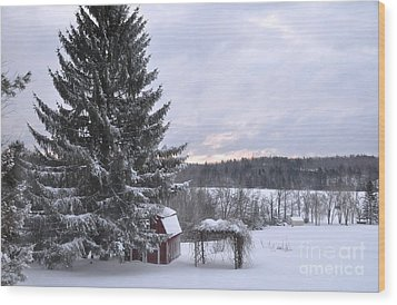 Wood Print featuring the photograph Winter Sunset - 1 by John Black