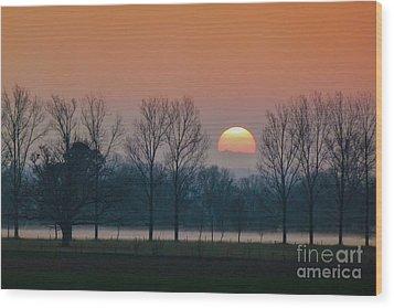 Winter Sunset 1 Wood Print